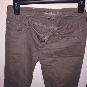 Skinny, Stretch Jeans in Brown